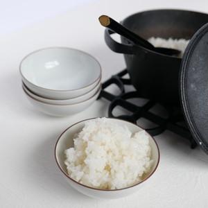 KR30305 九谷の白 めし碗 / Kutani White Rice Bowl / Showa Era