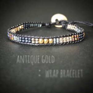 antique black:wrap bracelet