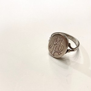 GERMANY antique silver signit ring -M.P.- (G)