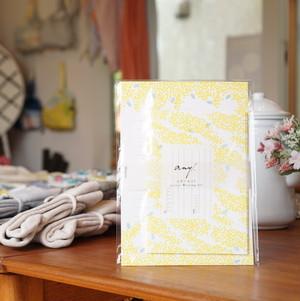 黄色のミモザがしあわせを届けるレターセット。any.オリジナルレターセット ミモザ