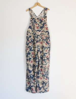 Linen Floral Overall