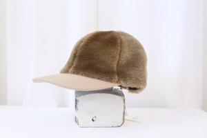 "MIND THE HAT ""fake fur cap""(brown)"