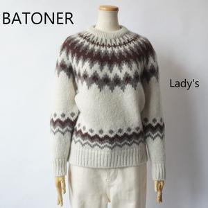 BATONER/バトナー・Women Mohair Nordic Crew Neck