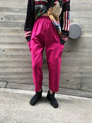 Vintage pink red pocket pants ( ヴィンテージ ピンク レッド ポケット パンツ )
