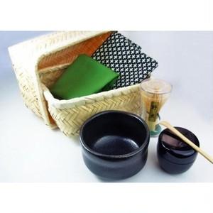 New 茶器茶喜お抹茶セット 黒天目碗 80617-1703