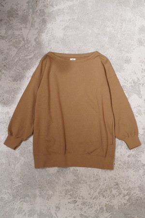 WMV / BOAT NECK SWEAT W(CAMEL)
