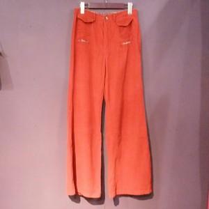 70's red corduroy pants [B1186]