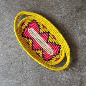 ウガンダ ラフィアオーバルトレイ M(A)