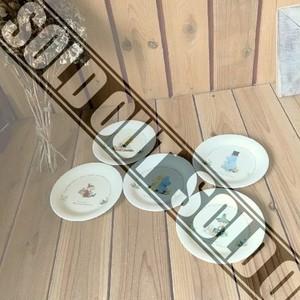 ≫未使用?YAMAKAヤマカTHE STORY OF MOOMIN VALLEY*ムーミン直径16㎝中皿5枚セット*陶器食器*パーティ等に*キッチン*リトルミイ*スナフキン