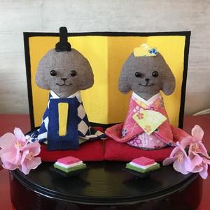 ワンコ雛人形(茶トイプー)