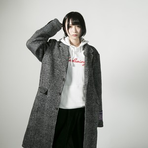 Light knit chester coat  Glen check
