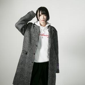 Light knit chester coat  Glen check