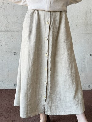Vintage Flax Linen Skirt Made In Lithuania