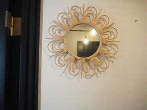 decoration flower mirror