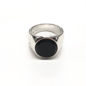 TOM WOOD OVEL BLACK ONYX RING