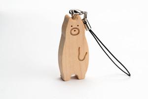 木のストラップ・クマ