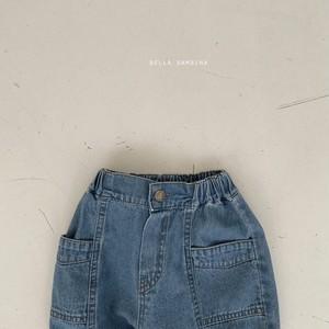 【予約販売】sand denim pants〈BELLA BAMBINA〉