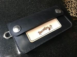 RoosterKing Black Cowhide Trucker Wallet,