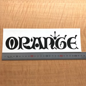 #149918_ORAN`GE cutting sticker_BLACK