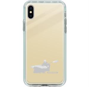 iPhone 8 Plus, 7 Plus用ミラーケース パドリングシルエット(Leo R. Yamada) ゴールド