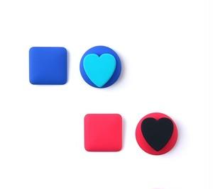 マットレトロハートブロックピアス(Pink,Blue) 20