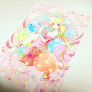ポストカード『猫の少女』