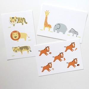動物ポストカード3枚セット