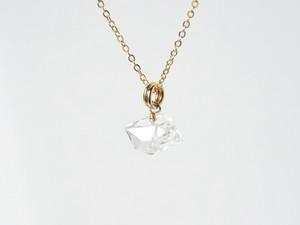 ベビー付個性的なハーキマーダイヤモンドのネックレスA/14kgf[N01257]c