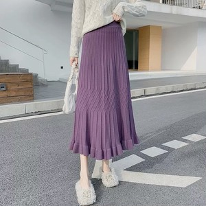 A line frill skirt 3color