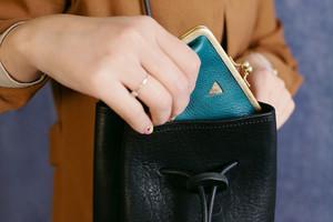 mini   ウォレット/がまぐち財布 キャメル