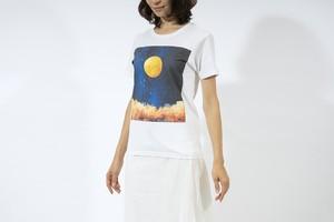 【NEW】夜空と満月の、Tシャツ