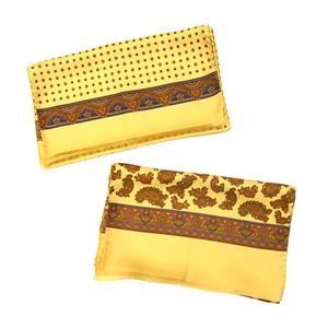 ARGENIO アルジェニオ シルクスカーフ 2色 Yellow Vintage