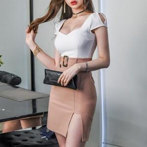 【ワンピース】好感度アップファッション透かし彫りスリムセクシーワンピース19379426
