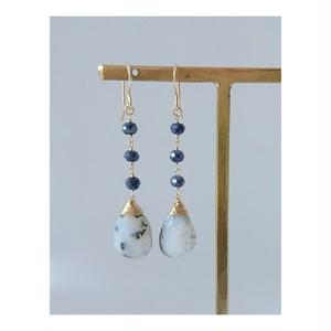 Dendrite opal & Sapphire