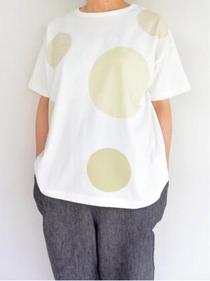 HEAVENLY(ヘブンリー) コットン ドットプリントTシャツ WH×BEIGE