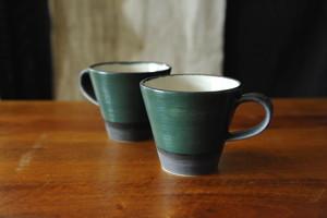 0456 沖誠 緑 マグカップ