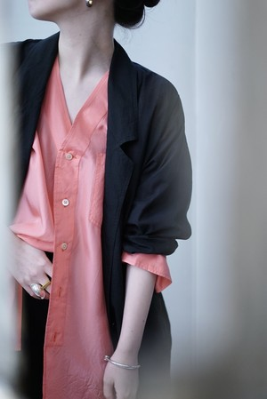 NOWOS /  tailored shirt (black)