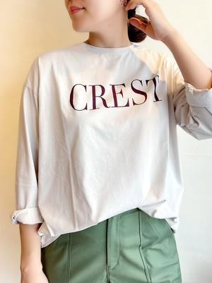 "MICA&DEAL / ""CREST""ロゴロングスリーブTシャツ"