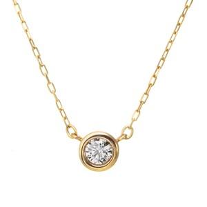 K10YGダイヤモンドネックレス 020201009210