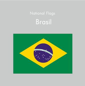 国旗ステッカー ブラジル