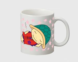 かめまるマグカップ 赤  (おやすみ)