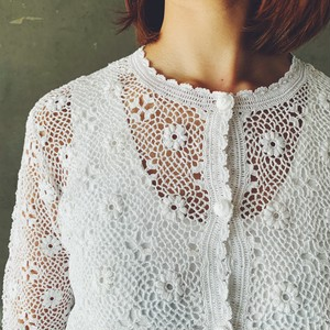French lace cardigan