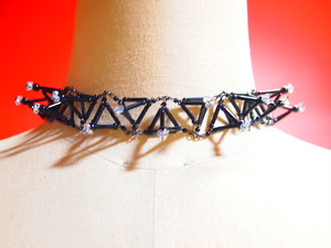 Three-dimensional Toge CHOKER[Black]