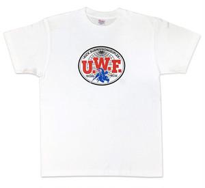【XXL】 U.W.F.伝説胸マーク大Tシャツ 白
