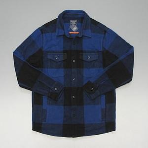 Abercrombie&Fitch アバクロンビー&フィッチ ヘビーネル シャツジャケット バッファローチェック ブルー/ブラック