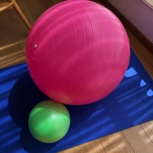 みほトレ バランスボール 55cm (ピンク)(画像ピンクのボール)エアポンプ付き