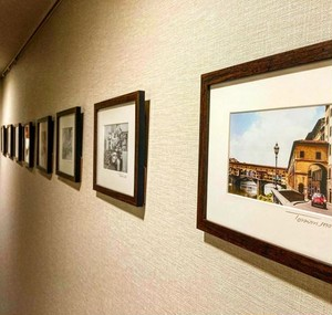 2012年撮影 ヴェッキオ宮殿 時計台 カラー写真 朝日【318201201】
