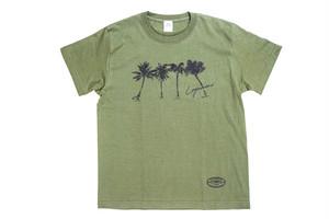 7/11(土)18:00【brush palm tree T-shirt】/ khaki
