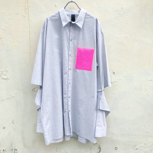 ODEUR studios Slit Shirt light grey