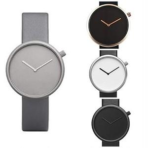 ラウンドフェイス シンプル ペア モノトーン クォーツ 腕時計